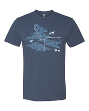 Load image into Gallery viewer, Migration Corridor Tee (UNISEX) • Indigo