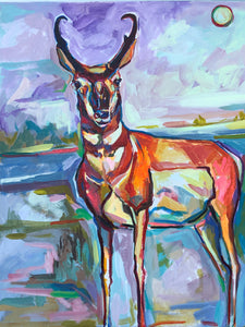 Speed Goat At Rest, Acrylic on Canvas by Noelle Weimann