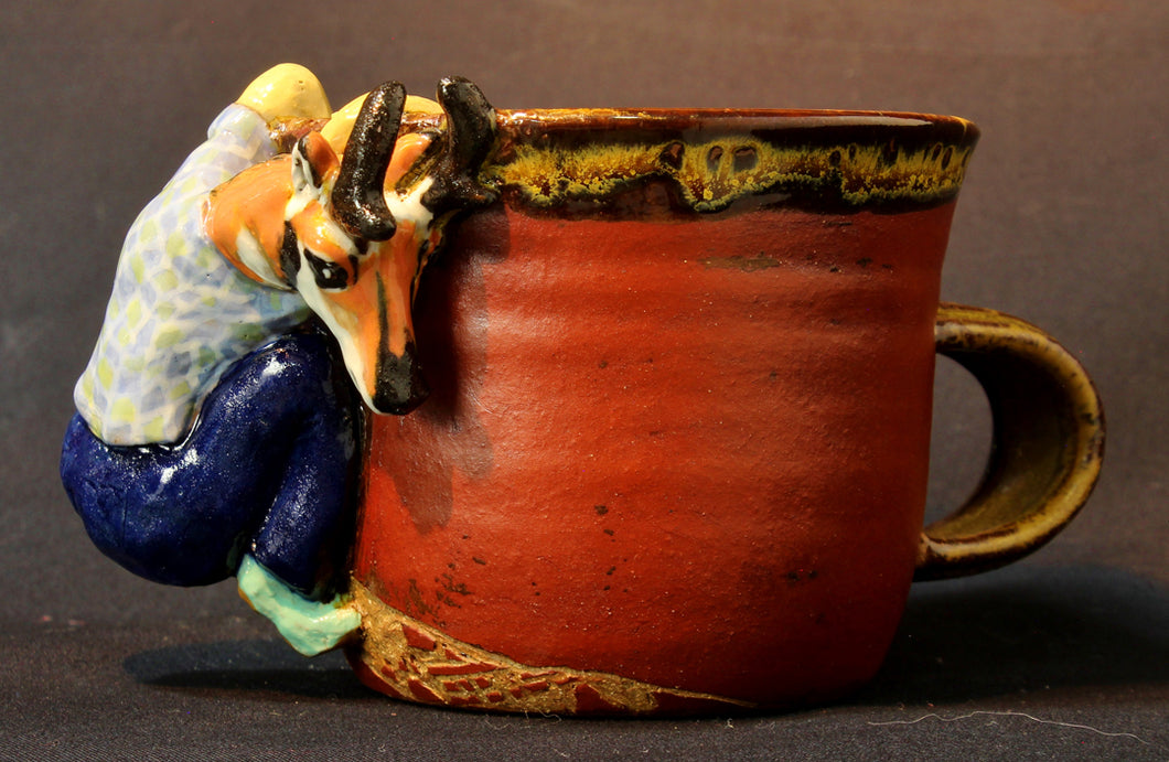 Pronghorn Stoneware Mug by Jenny Reeves-Johnson