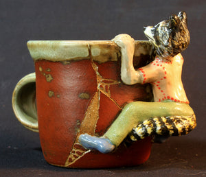 Raccoon Stoneware Mug by Jenny Reeves-Johnson