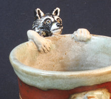 Load image into Gallery viewer, Raccoon Stoneware Mug by Jenny Reeves-Johnson