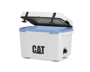 27 Quart Cooler Blue Collar White
