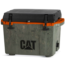 Load image into Gallery viewer, Camo Cooler with hunter orange inside