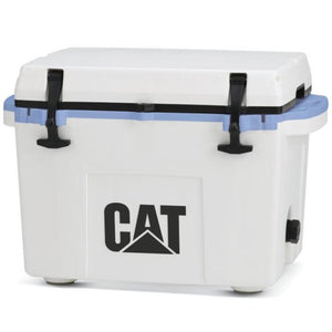 27 Quart Cooler Blue Collar White - Catcoolers