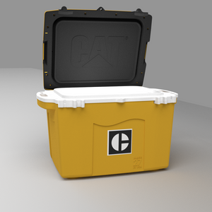 27 Quart Cooler C Block Yellow - PREORDER shipping July 13th