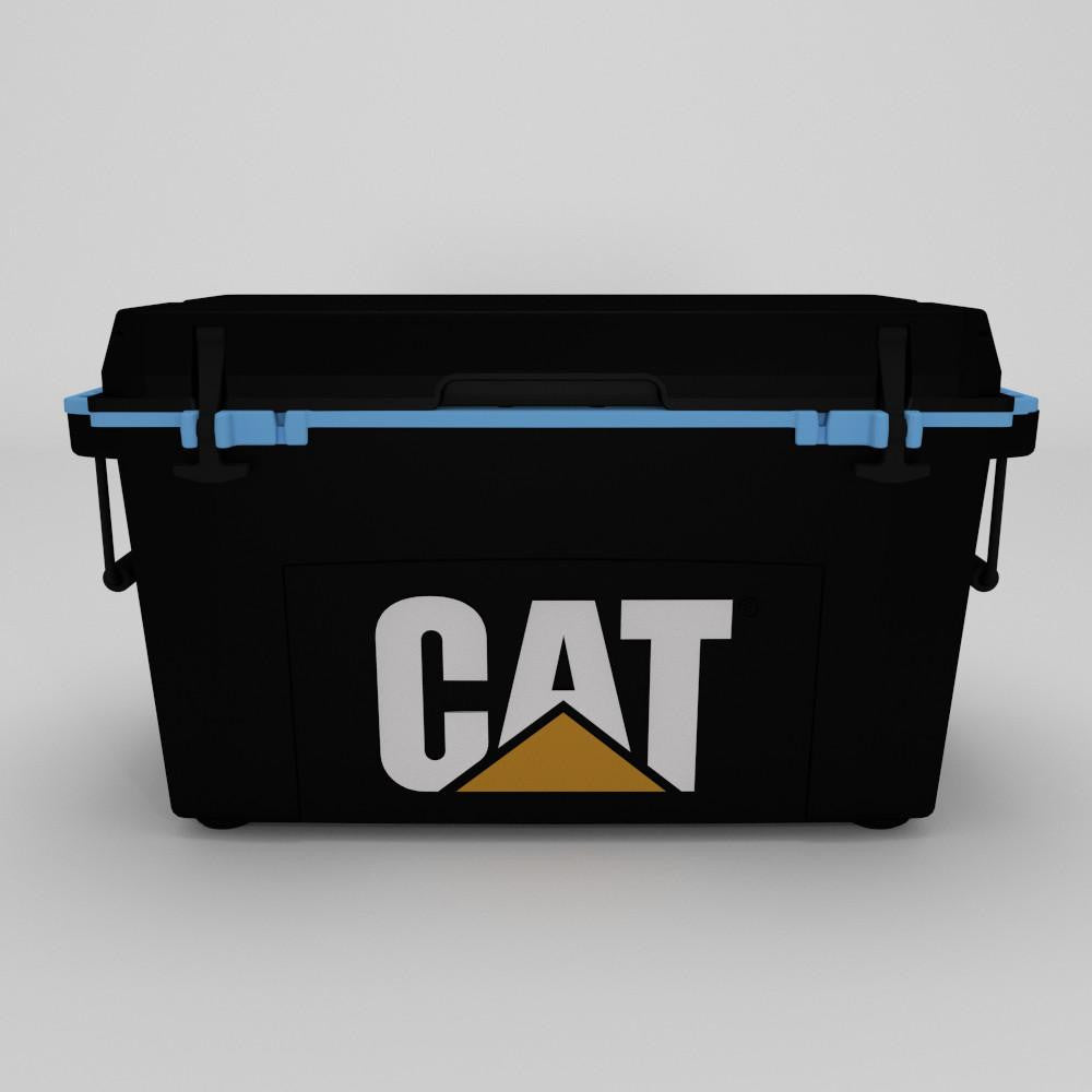 55 Quart Cooler Blue Collar Black - Catcoolers