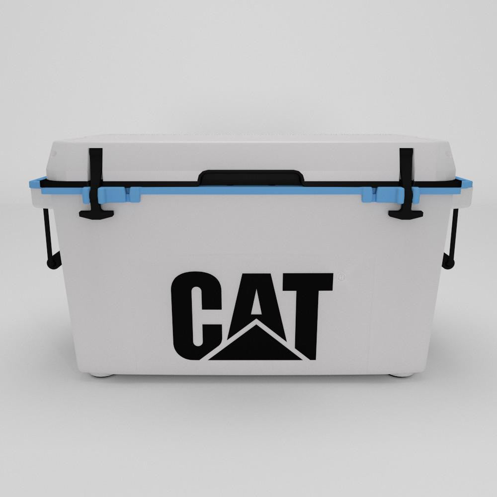 55 Quart Cooler Blue Collar White - Catcoolers