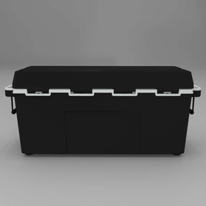 Back of Black 88 quart cooler