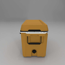 Load image into Gallery viewer, left side Cat 88 Quart Cooler with drain plug