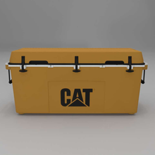 Load image into Gallery viewer, Front of 88 quart Cat Yellow