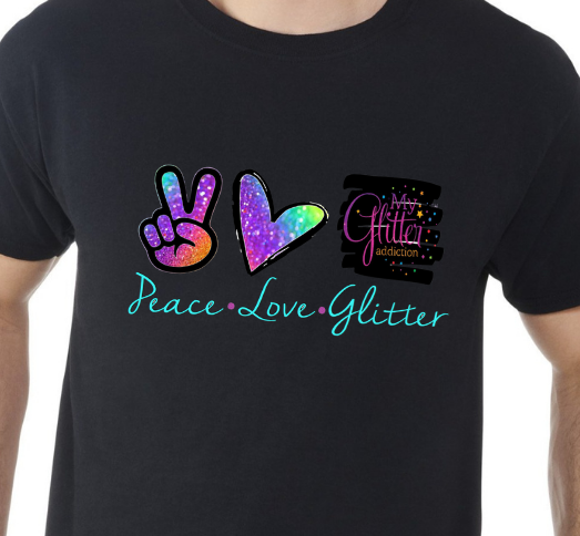 Peace Love and Glitter (Front)