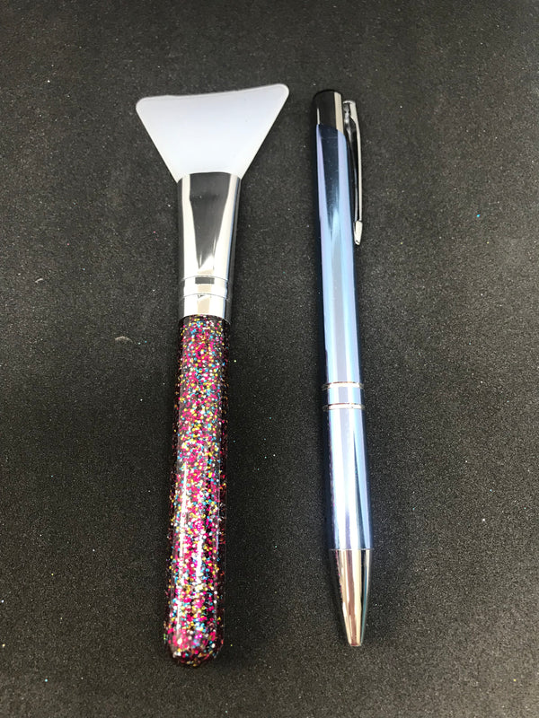 Silicone Brush Mixed Glitter Handle