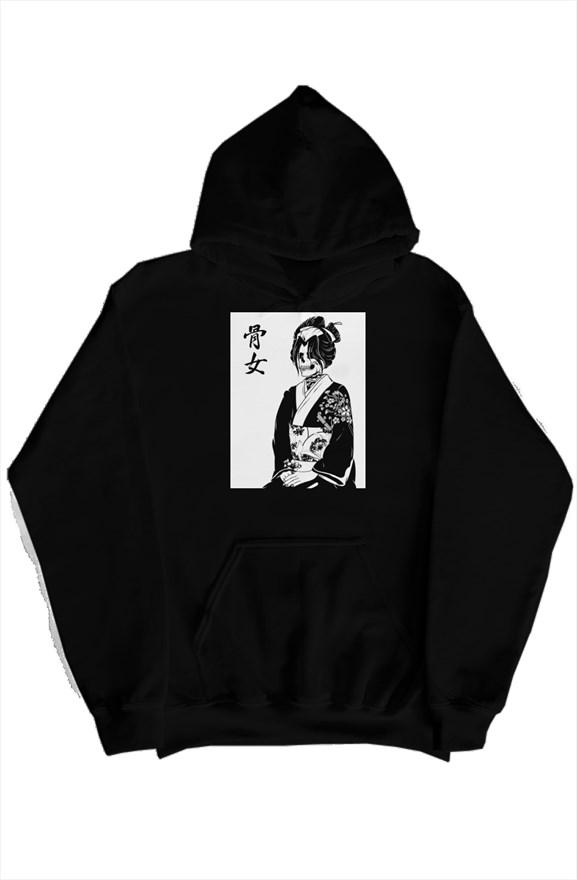 Honne Onna (骨女) Unique Graphic Hoodie For Boys, Hoodies For Girls