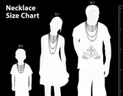 Saints of Christ Orthodox Icon Jewelry - Necklace Sizing Chart
