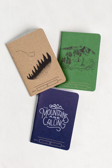 United by Blue Adventure Bound Notebooks (3 pack)