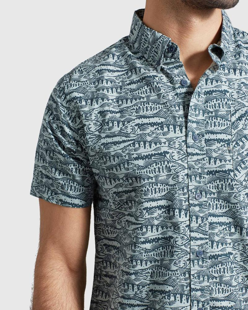 Men's United by Blue Natural Short Sleeve Button Down