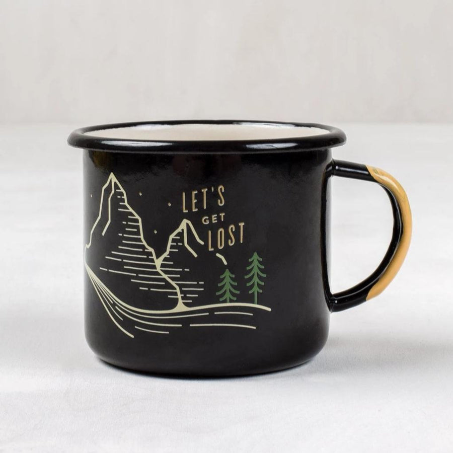 United by Blue Lets Get Lost Enamel 12 oz. Mug