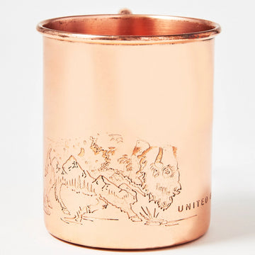United by Blue Where Buffalo Roam Copper Mug