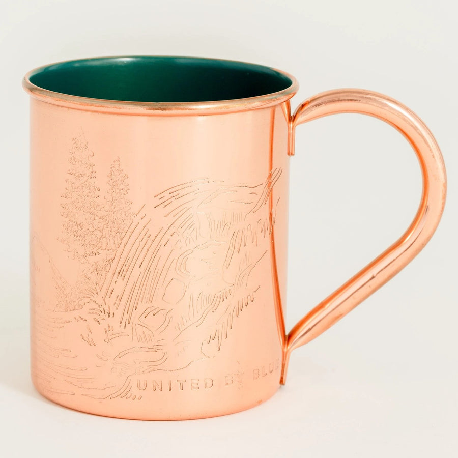 United by Blue Waterfall Enamel Lined Copper Mug