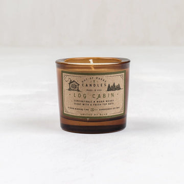 United by Blue Log Cabin Out-of-Doors Candle