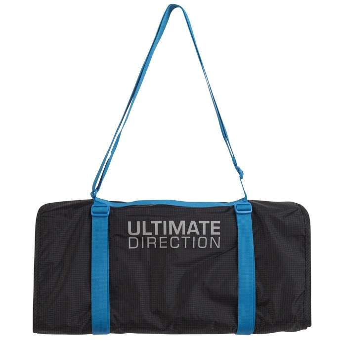 Ultimate Direction Crew Roll Bag, Black with blue straps