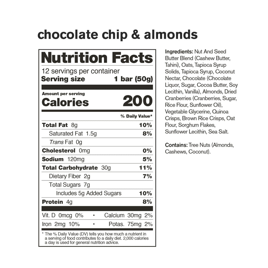 Skratch Labs Anytime Chocolate Chips and Almond Bar