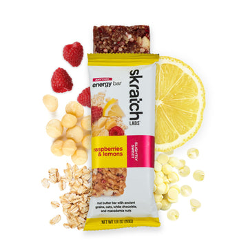 Skratch Labs Anytime Energy Bar - Raspberries & Lemons