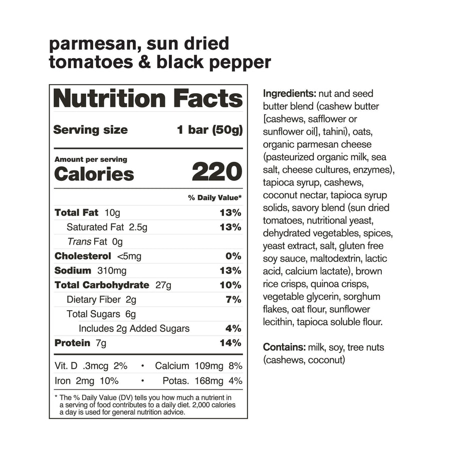 Skratch Labs Anytime Energy Bar - Parmesan, Sun-Dried Tomatoes & Black Pepper