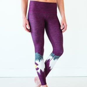 Women's Colorado Threads Native Yoga Tights, Burgundy