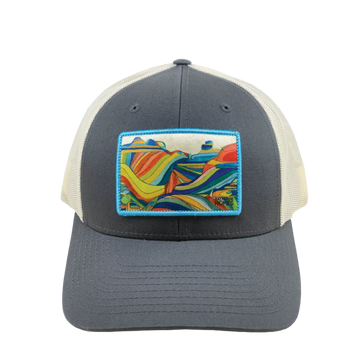 Katherine Homes Moab Baseball Style Trucker Hat in Grey