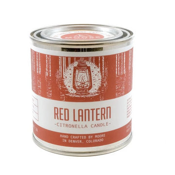 Moore Collection Red Lantern Citronella Candle