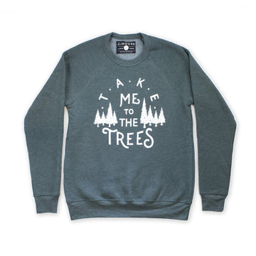 Moore Collection Take Me To The Trees Crewneck Sweater, forest green