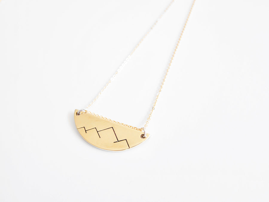 Christina Nicole Mountain Range Crest Necklace