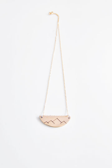 Christina Nicole Mountain Range Crest Neckless