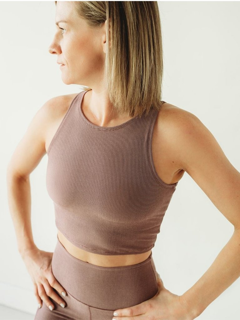 Women's Colorado Threads Mauve Microstripe Crop Top