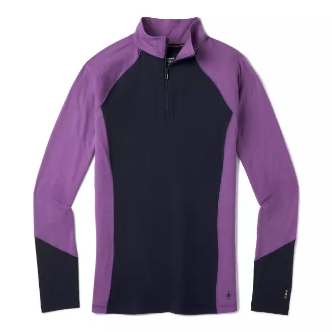 Women's Smartwool Merino 150 Base Layer Colorblock 1/4 Zip