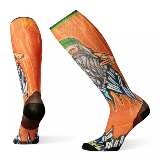 Smartwool PhD® Ski Ultra Light Old Man Winter Print Sock