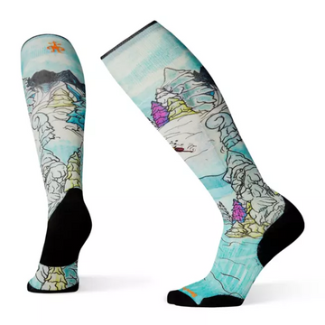 Smartwool PhD® Ski Light Elite Pow Days Print Sock