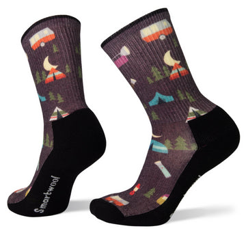 Women's Smartwool Hike Light Summer Nights Print Crew Sock
