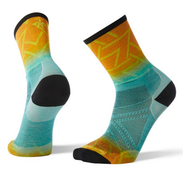 Men's Smartwool PhD® Run Ultra Light Print Crew Socks