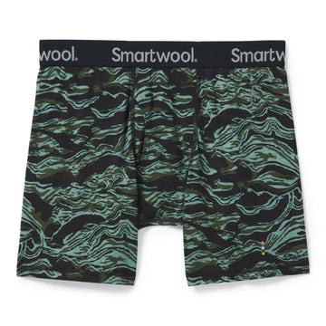 Men's Smartwool Merino 150 Print Boxer Brief  in Green Print