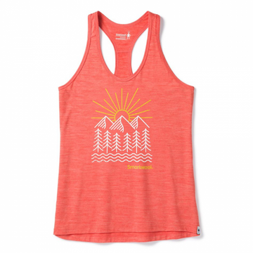 Women's Smartwool Merino Sport 150 Mountain Morning Tank - Habanero
