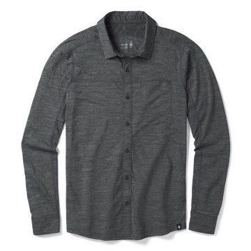 Men's Smartwool Merino Sport 150 Long Sleeve Button Down - Grey