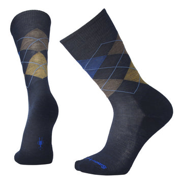 Men's Smartwool Diamond Jim Sock - Blue + Brown