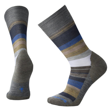 Men's Smartwool Saturnsphere Sock - Blue + Grey