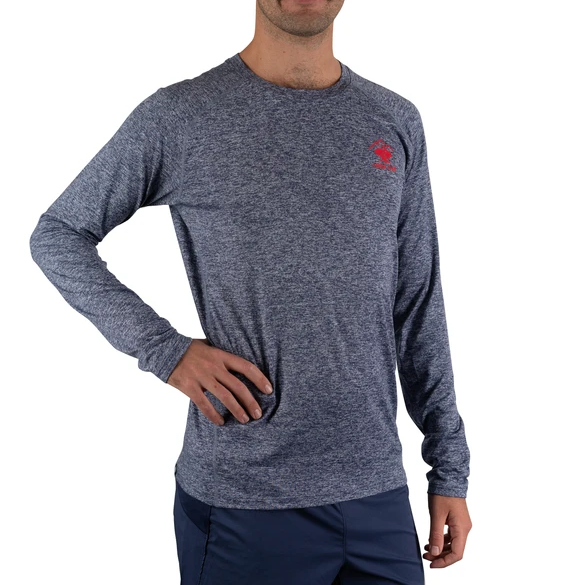 Men's rabbit EZ Tee Heather Long Sleeve - Blue