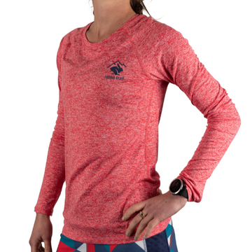 Women's rabbit EZ Tee Heather Long Sleeve - Red