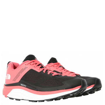Women's The North Face VECTIV Enduris Trail Running Shoe in Red and Black