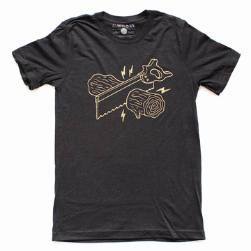 Unisex Moore Collection Wood Cut Tee, black