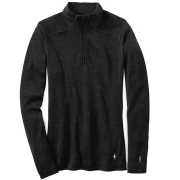 Women's Smartwool Merino 250 Base Layer 1/4 Zip - Black